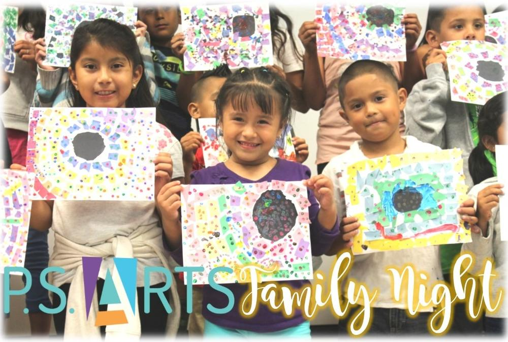 PS Arts Family Night Oct 20