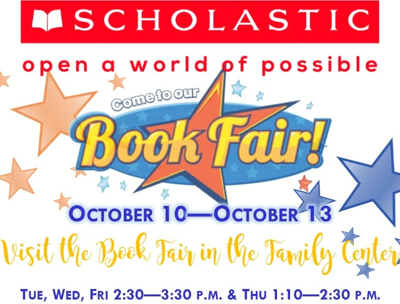 Book Fair Oct 10 thru Oct 13