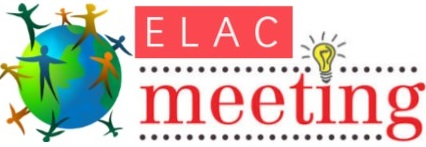 ELAC Meeting May 31 at 8 45 a.m.